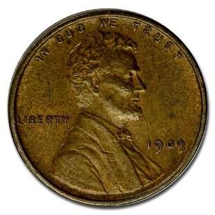 1909 VDB Lincoln Cent AU
