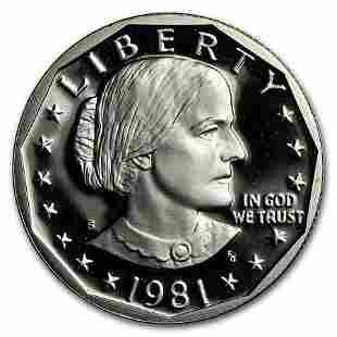 1981-S Susan B. Anthony Dollar Gem Proof Type-2