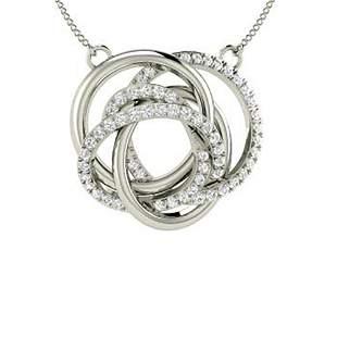 0.36 ctw Diamond Necklace 18K White Gold