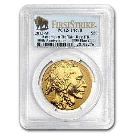 2013-W 1 oz Reverse Proof Gold Buffalo PR-70 PCGS