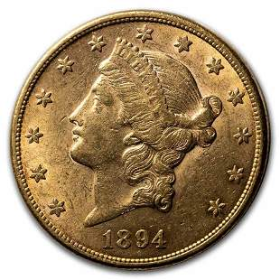 1894 $20 Liberty Gold Double Eagle AU
