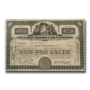 Packard Motor Car Company Stock Certificate