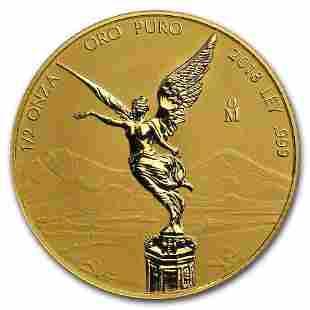 2018 Mexico 1/2 oz Reverse Proof Gold Libertad