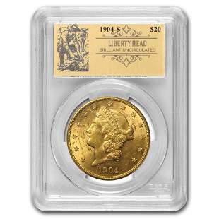 1904-S $20 Liberty Gold Double Eagle BU PCGS