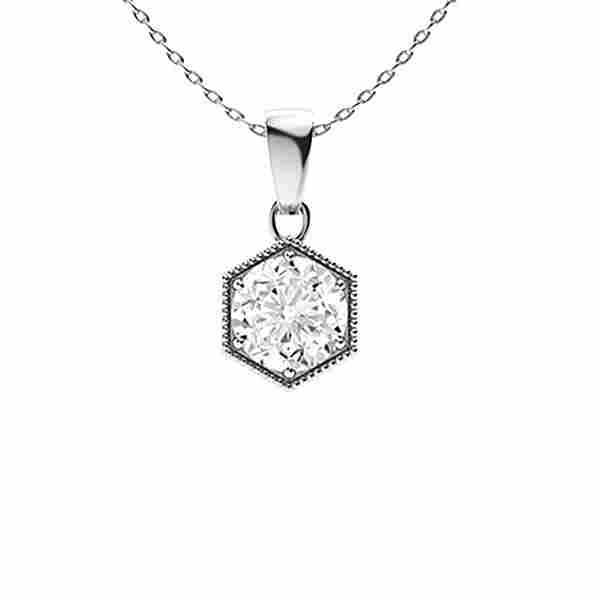 0.62 ctw Diamond Necklace 18K White Gold