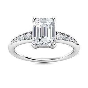 Natural 3.67 CTW Topaz & Diamond Engagement Ring 18K