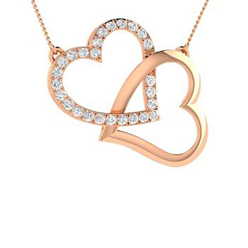 0.44 ctw Diamond Necklace 14K Rose Gold