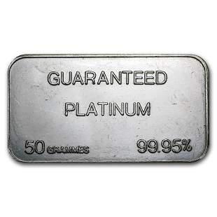 50 gram Platinum Bar - Secondary Market (.999+ Fine)