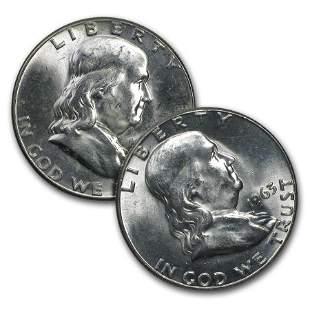 $1.00 Face Value Franklin Halves BU
