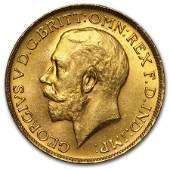 1927-SA South Africa Gold Sovereign George V BU