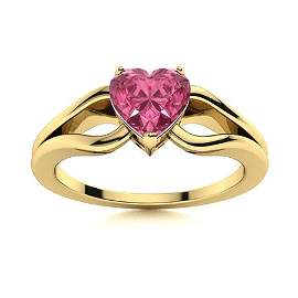 Natural 0.65 CTW Tourmaline Solitaire Ring 14K Yellow
