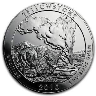 2010 5 oz Silver ATB Yellowstone National Park, WY