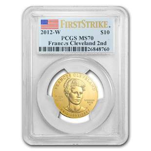 2012-W 1/2 oz Gold Frances Cleveland 2nd Term MS-70