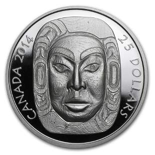 2014 Canada 1 oz Silver $25 Matriarch Moon Mask (UHR)