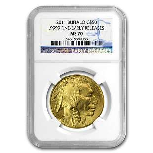 2011 1 oz Gold Buffalo MS-70 NGC (Early Releases)