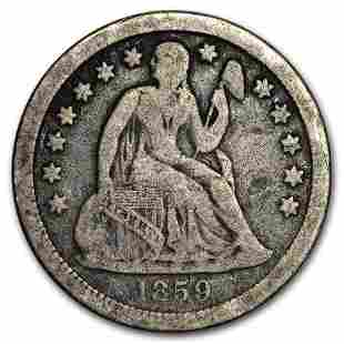 1859-O Liberty Seated Dime VG