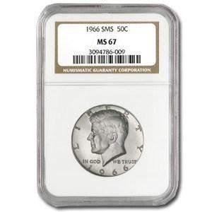 1966 Kennedy Half Dollar MS-67 NGC (SMS)
