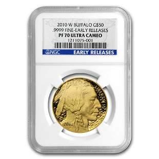 2010-W 1 oz Proof Gold Buffalo PF-70 NGC (ER)