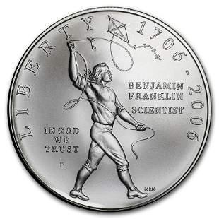 2006-P Ben Franklin Scientist $1 Silver Commem BU