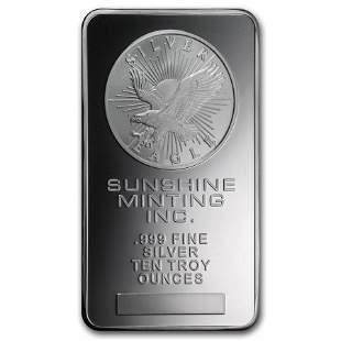 10 oz Silver Bar - Sunshine (Original)