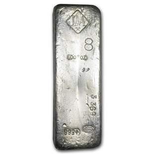 100 oz Silver Bar - Johnson Matthey (Canada, Vintage,