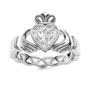 Natural 0.52 CTW Diamond Solitaire Ring 18K White Gold