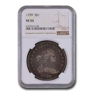 1799 Draped Bust Dollar VF-25 NGC