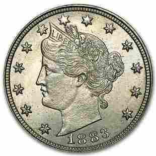 1883 Liberty Head V Nickel No Cents BU