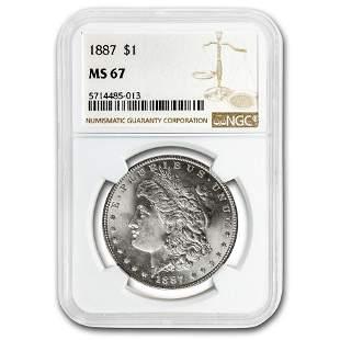 1887 Morgan Dollar MS-67 NGC