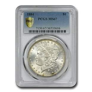 1884 Morgan Dollar MS-67 PCGS