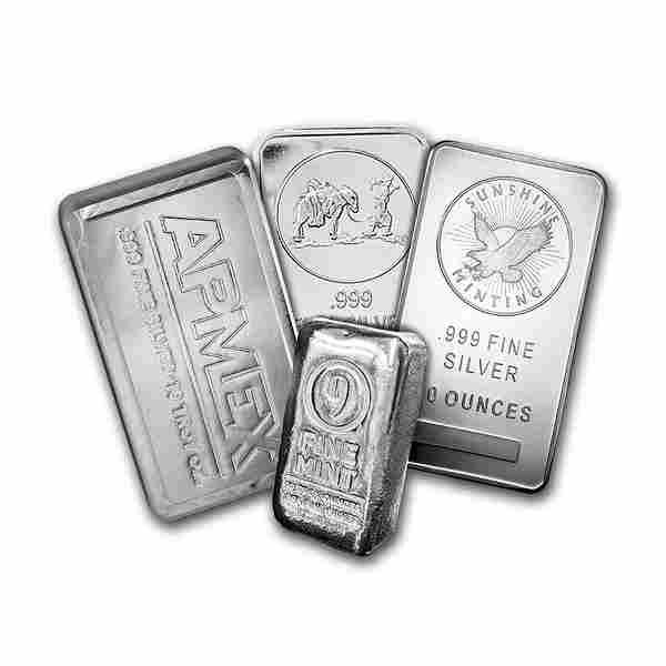 10 oz Silver Bar - Secondary Market