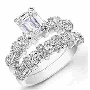 Natural 2.42 CTW Stunning Emerald Cut Diamond Ring 18KT