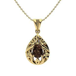 0.96 ctw Quartz Necklace 14K Yellow Gold