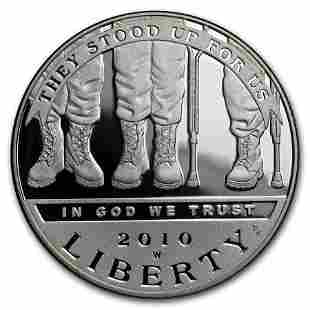 2010-W Disabled American Veterans $1 Silver Commem Prf