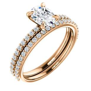 Natural 2.12 CTW Oval Cut Diamond Engagement Ring 18KT
