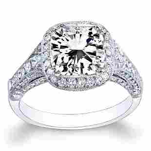 Natural 3.53 CTW Radiant Cut Diamond Engagement Ring