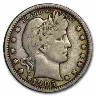 1905-O Barber Quarter Fine