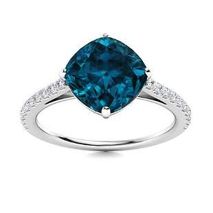 Natural 2.61 CTW Topaz & Diamond Engagement Ring 14K