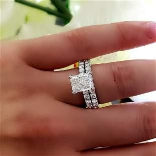 Natural 2.02 CTW Radiant Cut Diamond Engagement Ring