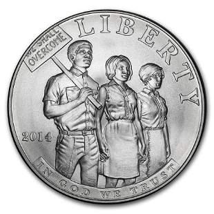 2014-P Civil Rights of 1964 $1 Silver Commem BU (w/Box