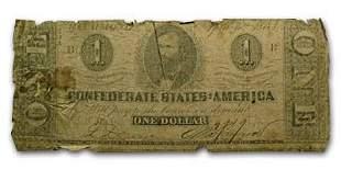 1863 $1.00 (T-62) Clement C. Clay Fair