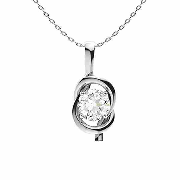 1.02 ctw Diamond Necklace 14K White Gold
