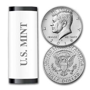 2018-D Kennedy Half Dollar 20-Coin Roll BU (Mint