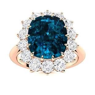 Natural 2.53 CTW Topaz & Diamond Engagement Ring 14K