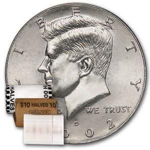 2002-D Kennedy Half Dollar 20-Coin Roll BU