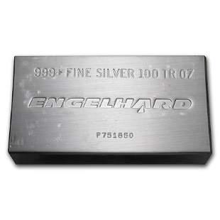 100 oz Silver Bar - Engelhard (Struck, w/Original