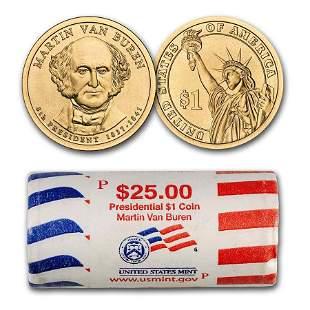 2008-P Martin Van Buren 25-Coin Presidential Dollar