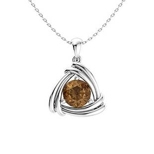 0.47 ctw Brown Diamond Necklace 14K White Gold