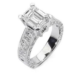 Natural 3.92 CTW Emerald Cut & Princess Diamond