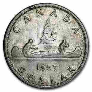 1937-1952 Canada Silver Dollar Avg Circ (.800 Fine)